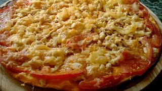 Быстро- ПИЦЦА! Пицца на слоеном тесте!