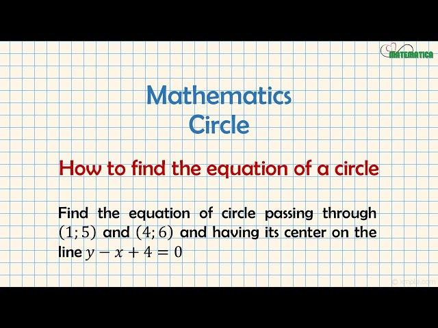 Equation of a Circle | Equazione della Circonferenza | Mathematics #10