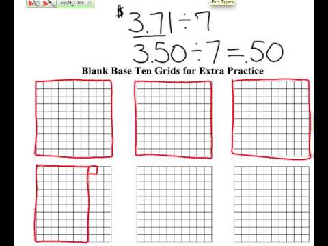 division of decimals with base 10 blocks youtube. Black Bedroom Furniture Sets. Home Design Ideas