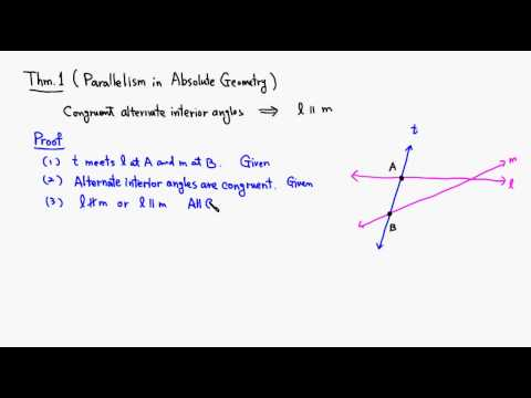 MTH 530 Theorem 4.1.1 Parallelism in Absolute Geometry