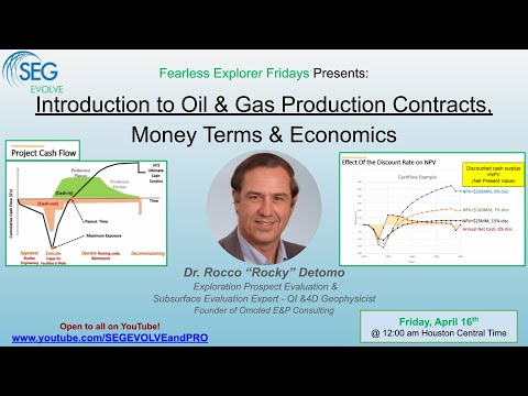 Introduction to Oil & Gas Production Contracts, Money Terms & Economics - with Dr. Rocky Detomo
