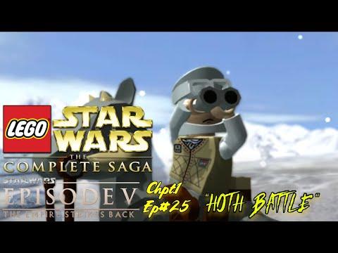 "LEGO STAR WARS: THE COMPLETE SAGA | TESB | ""HOTH BATTLE"" | Chpt.1 | Ep#25 |"