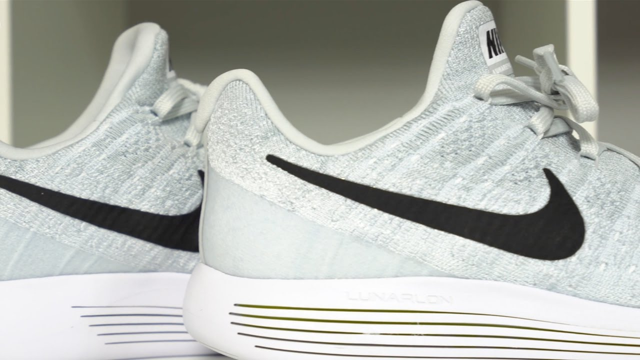 9ce00b1b9aa03 Nike LunarEpic Low Flyknit 2 Pure Platinum Detailed Look - YouTube