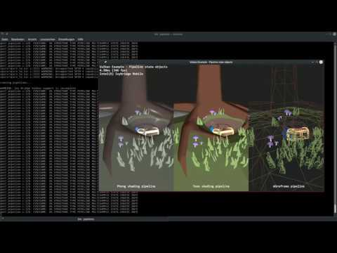 Sascha Willems Vulkan Demos Intel anv Ivy Bridge