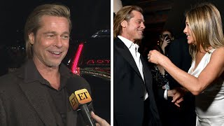 Brad Pitt REACTS to His Reunion With Jennifer Aniston (Exclusive)