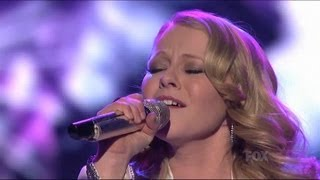 """Hollie cavangh performs """"honesty"""" by billy joel at the top 10 performance show. check out full performances with judges' commentary only http://www.americ..."""