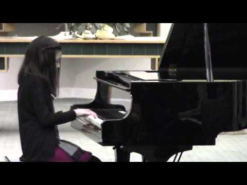 2013 Music Teacher Association Recital - Arabesque No. 2 by Debussy - Played by Juliana (11 yrs old)