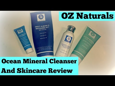 Oz Naturals Ocean Mineral Cleanser and Skincare Review