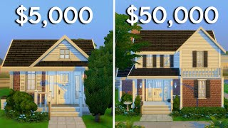 $5,000 vs $50,000 House in The Sims 4