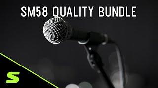 Shure SM58 Quality Bundle mit K&M Stativ und Sommer XLR Kabel