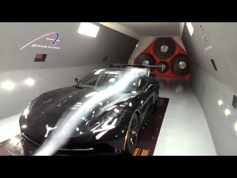 C7 Corvette Aero Testing at A2 Wind Tunnel