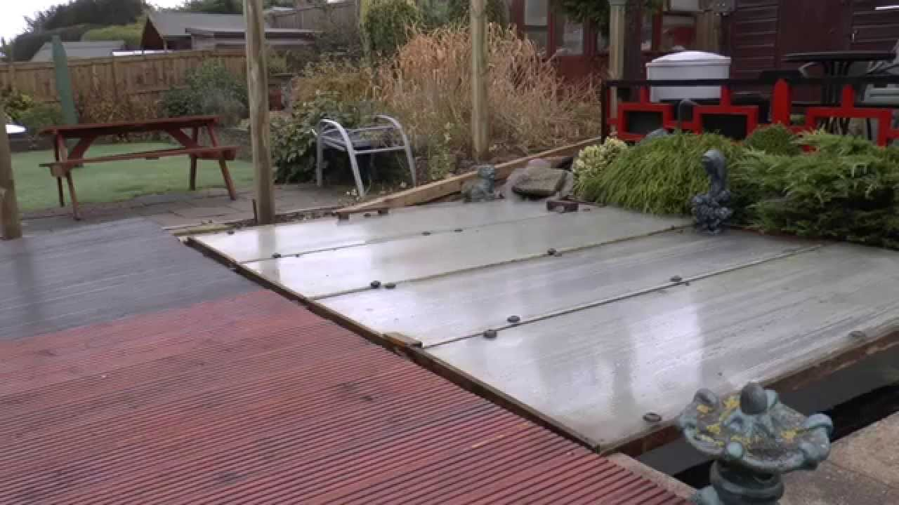 The pond covers go on youtube for Koi pool cover
