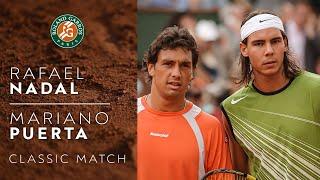 Rafael Nadal vs Mariano Puerta - 2005 Final | Roland-Garros Classic Match