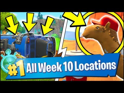 *ALL* Fortnite WEEK 10 CHALLENGE LOCATIONS | Camel, Viking, Vechicle Timed Trials (Season 6 Week 10)