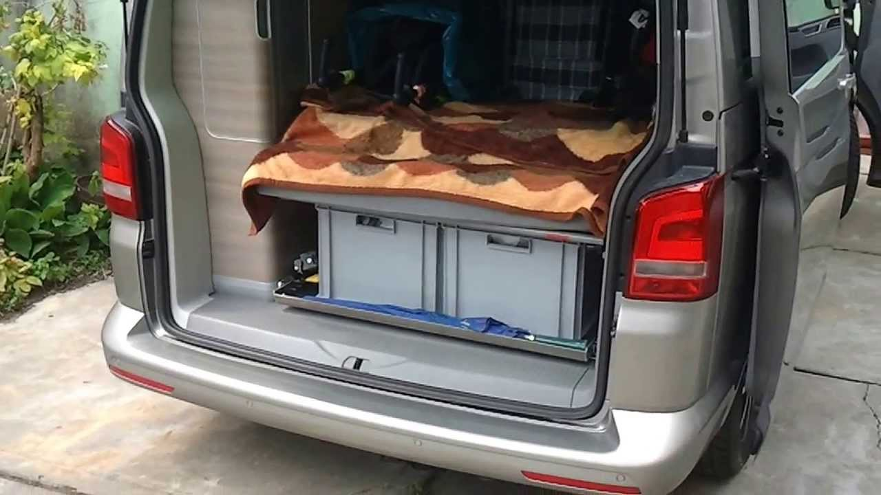 volkswagen vw t5 california 5 2 heckauszug heckschublade. Black Bedroom Furniture Sets. Home Design Ideas