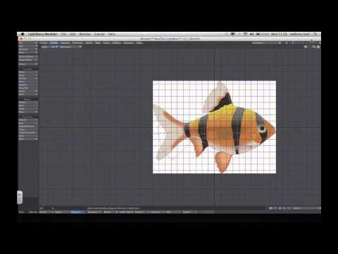 Lightwave 3D tutorials (Basic modeling of a fish)