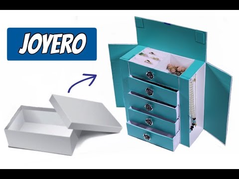 Joyero Hecho con Caja de Zapato