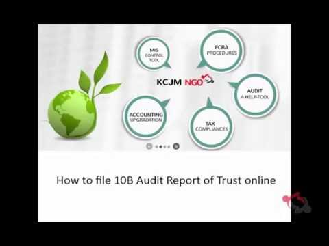 How to file Audit Report of Trust Form10B