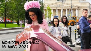 Moscow (Russia): Russian women and RETRO CARS / beautiful girls and legendary cars / 16 May, 2021