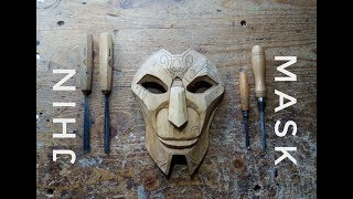 Jhin Mask Hand Carving Timelapse