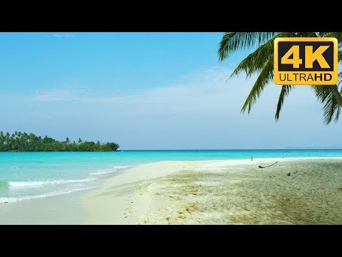 Relaxing 4K Sandbank Beach Scene - Tropical Relaxation Mac screensaver Windows Screensaver and TV
