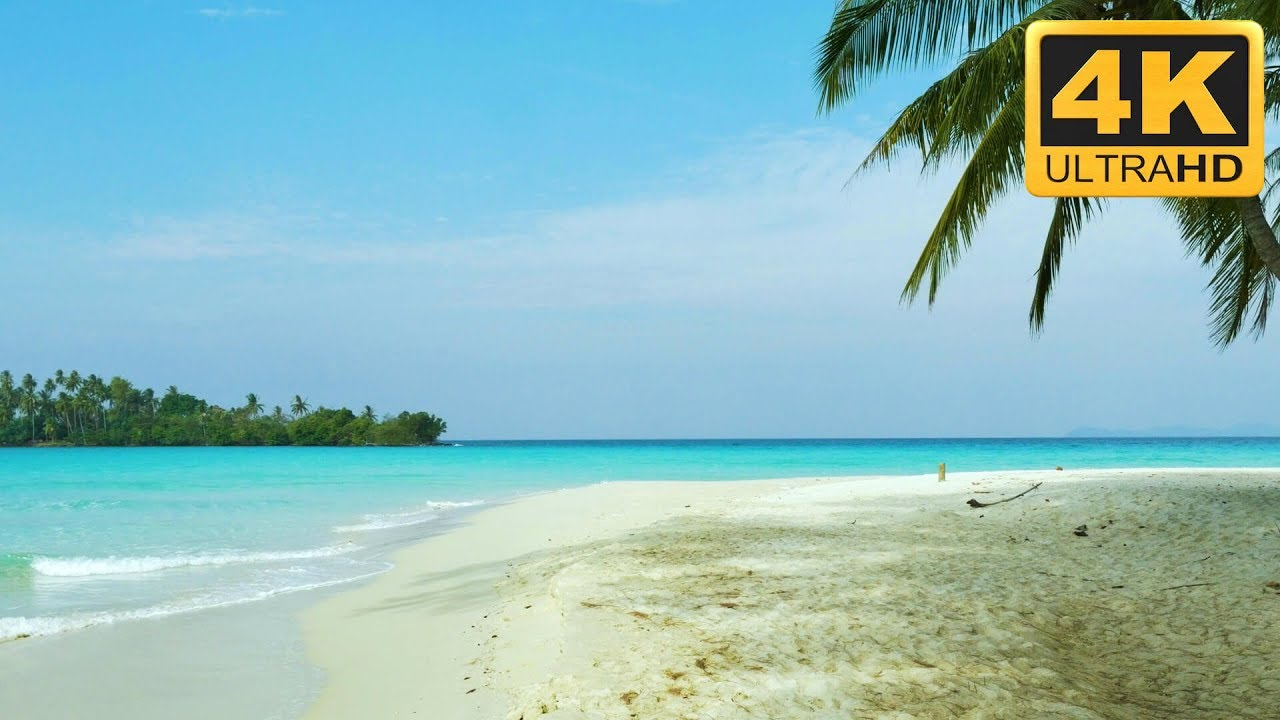 Relaxing 4k Sandbank Beach Scene Tropical Relaxation Mac Screensaver Windows Screensaver And