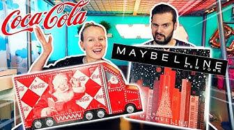 ADVENTSKALENDER 2019 PRANK Kathi überrascht Kaan mit Maybelline New York Kalender & Coca Cola Truck