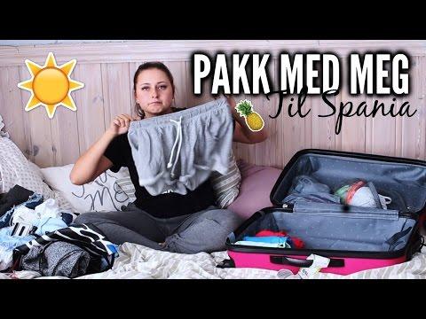 PAKK MED MEG TIL SPANIA ☀️