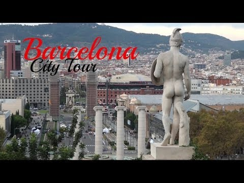 Barcelona City Tour, Catalonia, Spain. HD