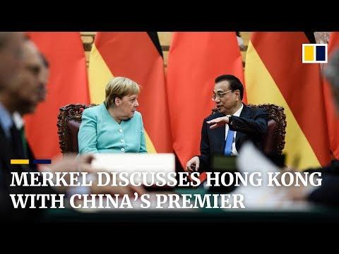 Merkel discusses Hong Kong with China's premier