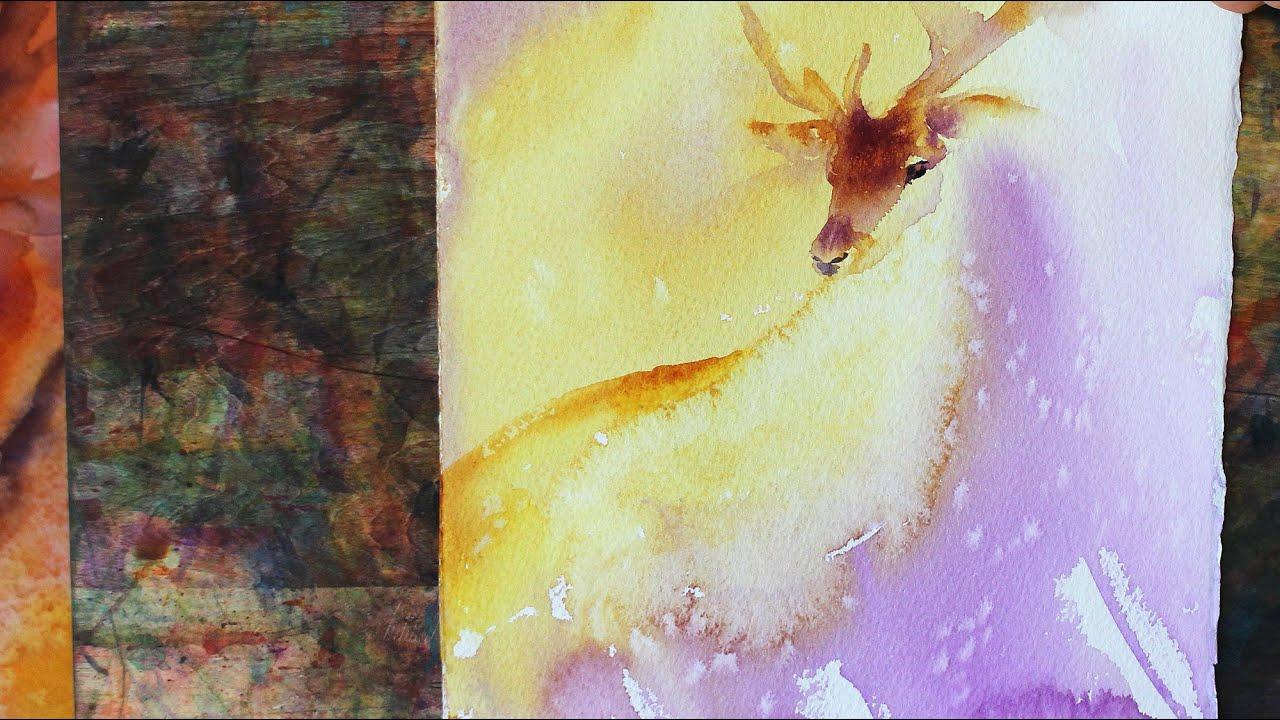 Watercolour Painting Deer