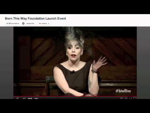 Lady Gaga Born This Way Foundation Launch Event FULL