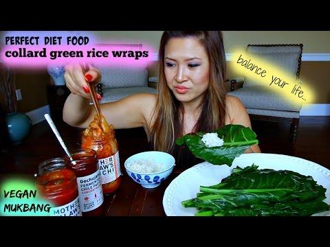 COLLARD GREEN RICE WRAPS • Mukbang & Recipe