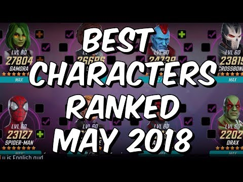 Best Characters Ranked May 2018 - Seatin's Tier List - Marvel Strike Force