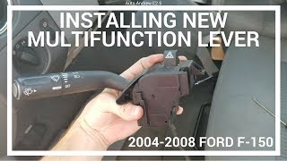 How To Install New Multifunction Lever Turn Signal Switch on 2004-2008 F150 - AutoAndrew E2.5