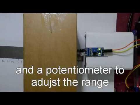 IR proximity sensor range test LM393