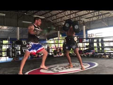 Chute Boxe Black Belt Rafael Justino trains in Thailand @phukettopteam