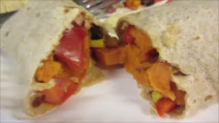 Vegan Sweet Potato & Black Bean Burritos! (day 36)