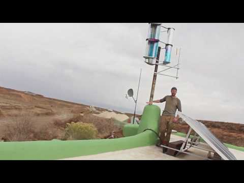 $30 Wind Turbine at Earthship, Taos - OpenSourceLowTech.org