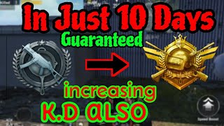 How to do Rank Push and increase K.D.😮 Platinum to conqueror in 10 days. PUBG MOBILE \ CLOWN GAMING