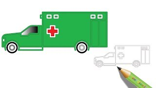 How to Draw an Ambulance | Easy Drawing - Coloring Page