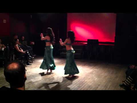 Nikki and Anjelica perform belly dance duet at Eros Cabaret part 1