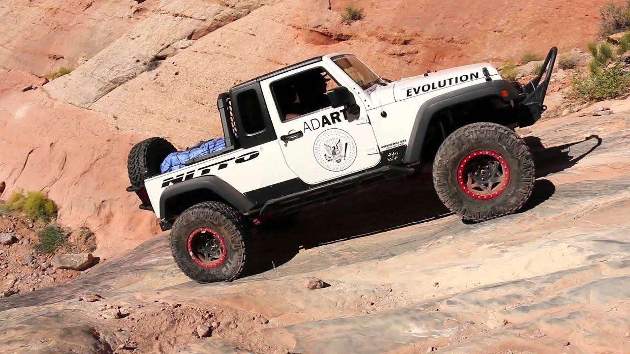 Ad Art Co JK8 Jeep Truck on Pritchett Canyon Trail Moab Utah
