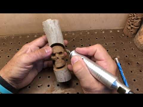 Wooden Skull  carving