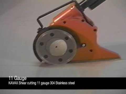 Kavax Sheet Metal Shear Cutting 11 Gauge Steel Youtube
