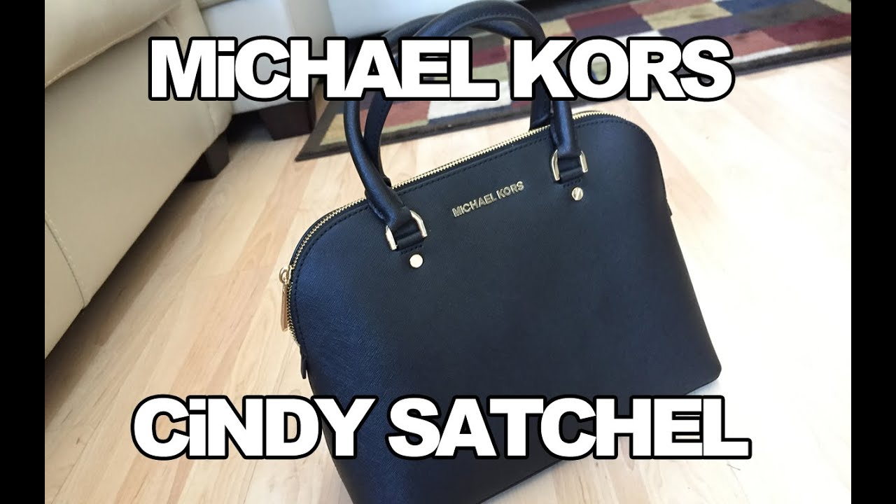 533afbf1e860 MiCHAEL KORS LARGE CiNDY SATCHEL REViEW - YouTube