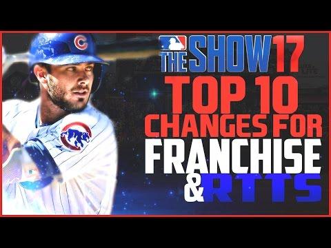 MLB the Show 17 Top 10 Franchise & RTTS Changes Wishlist