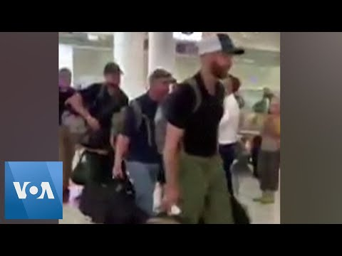 Michael Berry - Beautiful: US Firefighters Given Ovation At Sydney International Airport