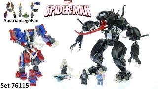 Lego Speed Build Spiderman Spider Mech vs. Venom Lego 76115