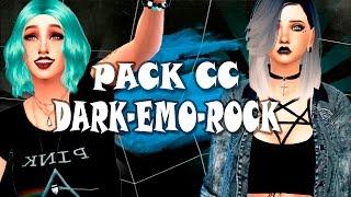 ROPA DARK-ROCK-EMO | MEGA Pack de CC + Speed Sim | Los sims 4